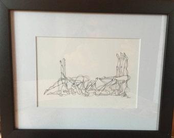 "NEW ITEM - Inspiration - Framed 8"" x 10"" Sun Salutation Ink Print"