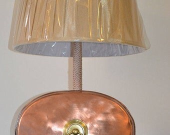 Victorian Copper Bed Warmer Lamp