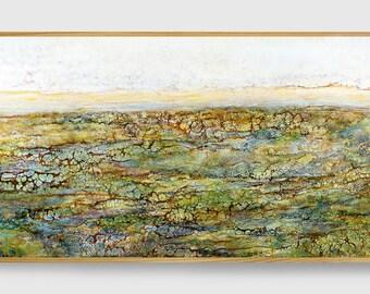 Fine art print, Giclee print, Abstract landscape, Green, Emerald