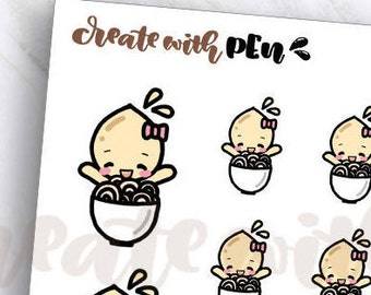 TA83 | Tinta | NOODLES | Planner Stickers