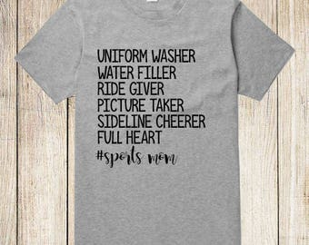 Sports Mom Fan Shirt  Mom T-Shirt