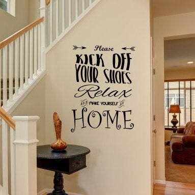Welcome Door Art Relax And Make Yourself At Home Wall Decal For - Wall decals relax