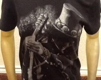Slash Guns N' Roses Nylon Rocker Tshirt Small 36 inch chest