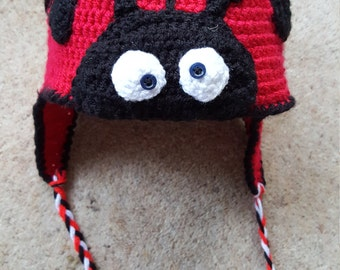 Handmade Crochet Ladybird Hat (1-2 years)