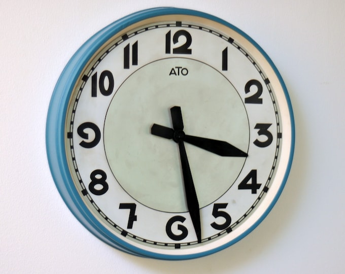 French Industrial wall clock ATO