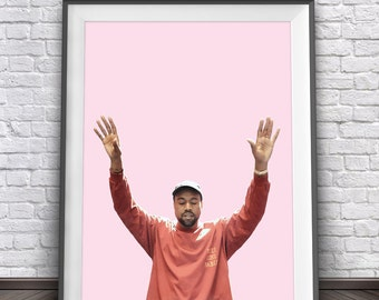 Kanye West Poster • I Feel Like Pablo Merch Kanye West Art Kanye 2020 Kanye Print Life of Pablo Art Yeezy Poster Yeezy Art Yeezus Poster