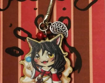 Ahri from League of Legend keychain