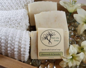 Chamomile & Lavender Soap, Natural Soap, Handcrafted Soap, Natural Bar Soap, Vegan Soap,  Essential Oil Soap, Herbal Soap