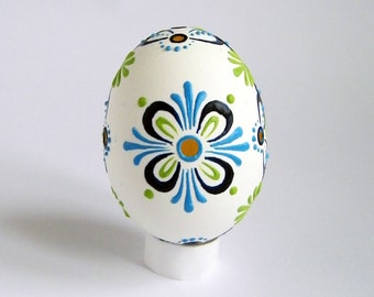 Easter Egg FREE Shipping Wax Decorated White Lace Egg Ukrainian Easter Egg Pysanky Kraslice Painted  Easter Decorations Anniversary Gift