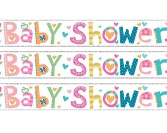 Baby Shower Banner x 3   Baby Shower Banner   Baby Shower Party Decor