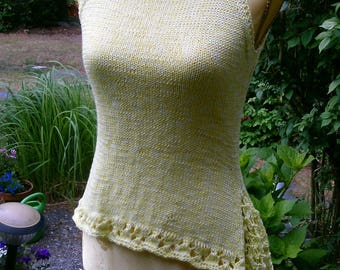 Knit top yellow (gradient) and tip, size 36-38 (S-m)