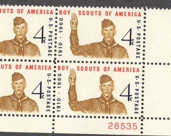 1960 Boy Scouts Postage Stamps Unused Block