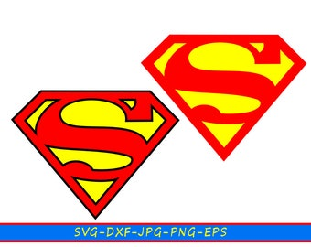Svg drawing Superhero Superman in svg formats-eps 5-dxf-png-jpg. For Cricut, Silhouette Cameo, vinyl cutting machines for embroidery