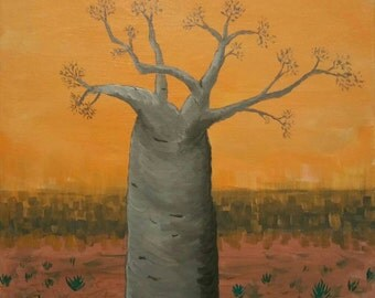 Baobab at the end of the world.  Apocalyptus Tree.