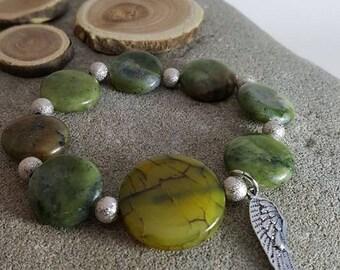 Adjustable bracelet with stones SERPENTINES.