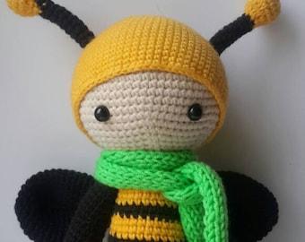 Cute bee/ Crochet bee / handmade bee / Lalylala bee / Lalylala doll