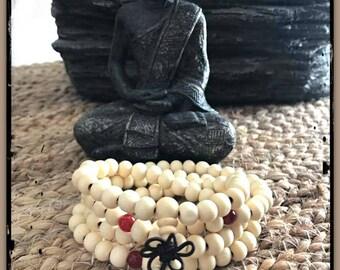 Sandalwood mala, prayer beads,  japa rosary, mala necklace, meditation beads, Tibetan necklace, Buddha jewelry, mala, yoga jewelry, zen