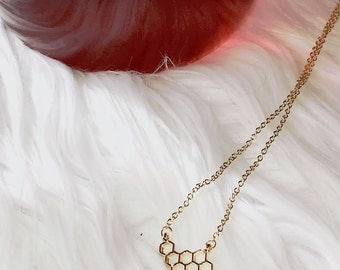 Honeycomb Necklace (Gold)