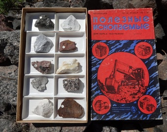 Mineral specimen Collection Rough Rocks Stones Educational geology Mining industry Earth science Geological samples Display Teacher Student