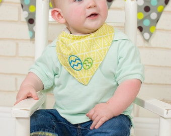 Baby Boy Easter Bib - Boys Easter Outfit Baby - Easter Bib - Easter Outfit - Bandana Bib Boy - Easter Gift - Baby Bib - Organic Baby Clothes