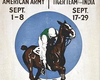 Vintage Long Island USA International Polo Matches Poster  A3 Print