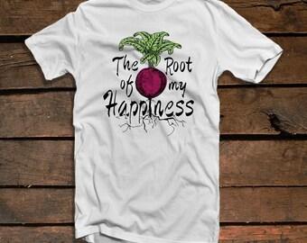 Beet Shirt For Men - Animal Rights Shirt Eco Clothing - Gift For Vegan Beet Shirt Veganism Men's Graphic Tees - Beet Root Vegan Clothing