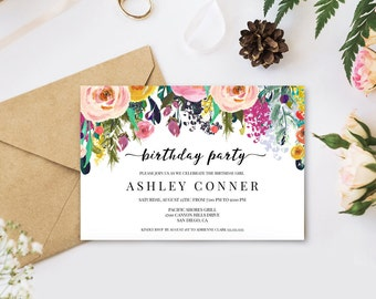 Wedding Templates Etsy NZ - Digital birthday invitation template