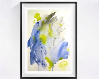 Original Abstract Painting Watercolor:  Fine art Abstract watercolor abstract artwork Original Abstract art Drip art Original 14 x 20