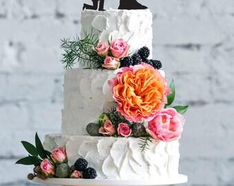 Wedding cake topper- Silhouette wedding cake topper- Personalized cake topper- Personalized wedding Cake Topper- Wedding cake topper