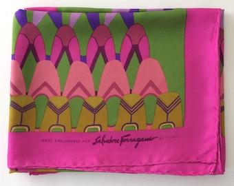 SALVATORE FERRAGAMO by FIORIO - Silk scarf vintage