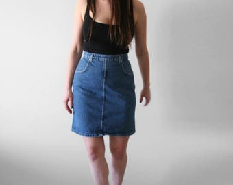 "VINTAGE Denim Skirt | ""FRENCH DRESSING Jeanswear"" 