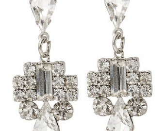Art Deco Crystal Earrings - Wedding/Bridal/Bridesmaid/Prom EA6036j