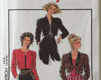 Style 1844 Vintage Bolero Uncut Out of Print Pattern, Copyright© 1990