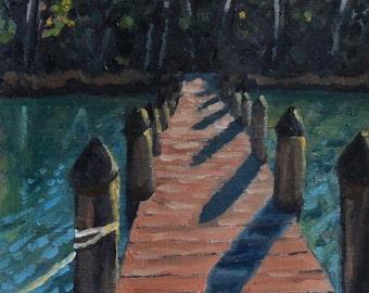 Rappahannock River original oil painting