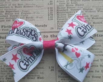 Gymnastics Hair Bow, gymanstic party, girls hair bows, party favors