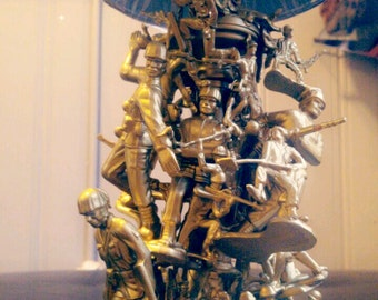 Army Fatigue, ArmyMen, GI JOE, Toys, Lamps, Light, Handcrafted, Handmade, Military, Lamp