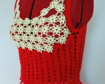 Crochet top, Crochet blouse, Lace top, Womens clothing, Knitted top