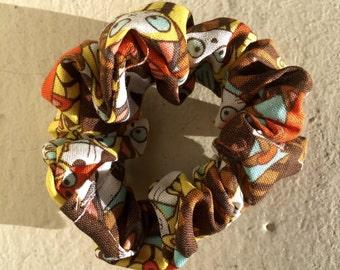 Colorful Cat Scrunchie