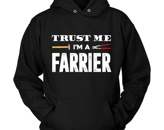 Horse Farrier Hoodie / Equestrian Clothing / cool funny horse gifts / dressage show jumping / horseback riding / hoody / horse lover /