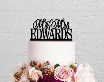 Wedding Cake Topper,Mr And Mrs Cake Topper,Last Name Cake Topper,Wedding Decoration,Custom Cake Topper,Rustic Cake Topper