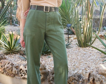 Vintage 28-34 Waist 60s 70s OG 107 Army Pants | Vietnam Utility Pant | Green Fatigue pants | Olive Green Utility Pant | see SIZE OPTIONS