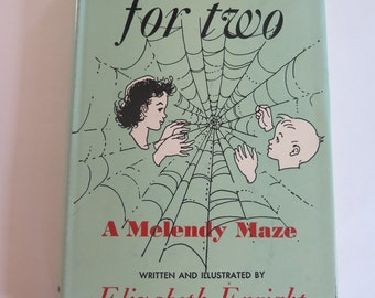 1951, Spiderweb for Two: A Melendy Maze, Elizabeth Enright, First Edition Hardcover with Dust Jacket