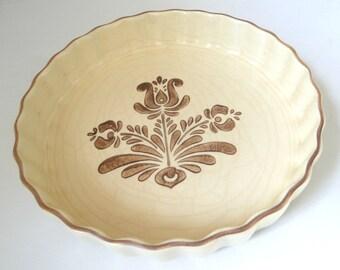 Pfaltzgraff, Village, Quiche, Tart, Casserole, Dish, Vintage, Kitchenware