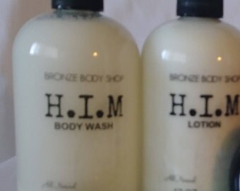 Men's Lotion and Body Wash Set with Body Oil