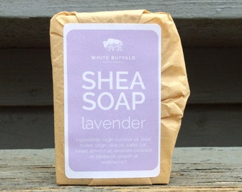Shea Soap Lavender, Shea Butter Soap Lavender, Lavender Soap, Handmade Soap, Natural Soap, Vegan Soap, Essential Oil Soap