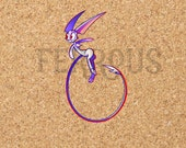DreamKeepers Whip Sticker - Web Comic Stickers - Furry Community - Anthro Decals DK028