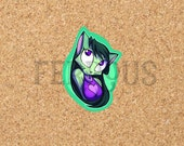 DreamKeepers Small Lilith Sticker - Web Comic Stickers - Furry Community - Anthro Decals - Book Worm Sticker DK034