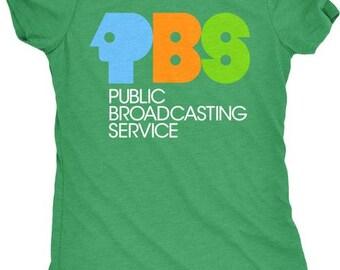 PBS Vintage Logo Women's Tri-Blend T-Shirt - Plus sizes available!
