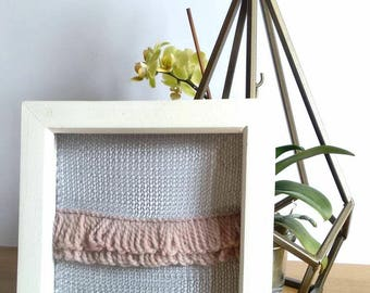 Handmade Grey Wire Knitted Wall Art