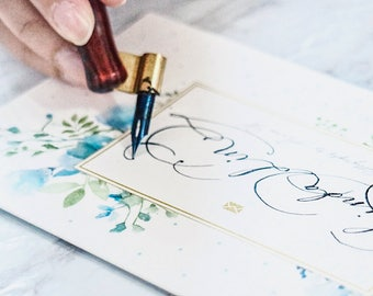 Customised Calligraphy Card / Calligraphy / Escort Cards/Wedding Cards/Place Card/Wedding Place Card/Design